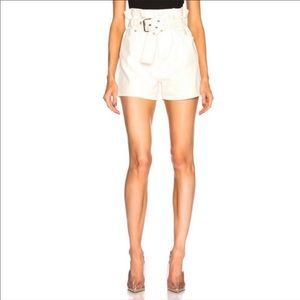 3.1 Phillip Lim High Waist White Belted Shorts 6